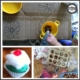 There are different ways to gradually introduce tactile materials to encourage children to participate in messy play.