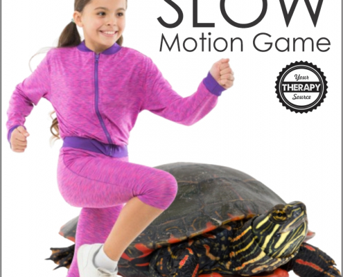 Here is a fun, simple strengthening exercise and motor timing game that requires no equipment - the slow motion game.