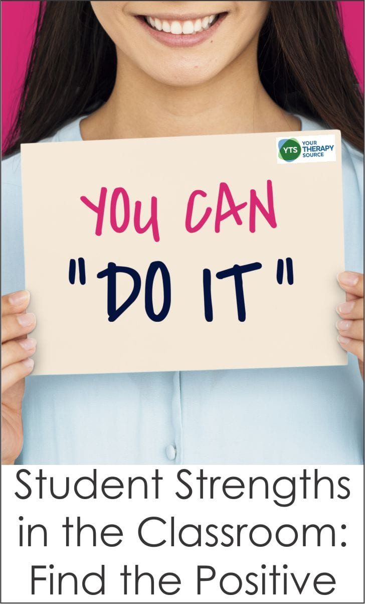 Students or parents are frequently told to fix this or improve that. How about finding the positive and looking for student strengths in the classroom?