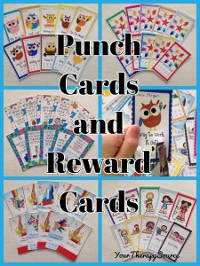 Punch and Reward Cards from https://yourtherapysource.com/punchcards.html