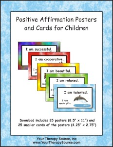 positive affirmation posters and cardshttps://yourtherapysource.com/positiveaffirmation.html