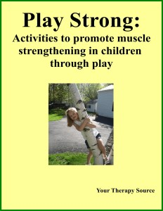 Play Strong ebook for children from www.YourTherapySource.com