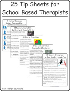 25 School Based Therapy Tip Sheets