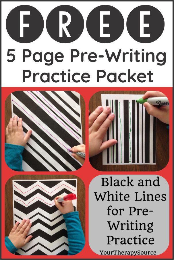Practicing pre writing lines are an important skill to get children ready for handwriting letters. This freebie provides bold lines for early learners.