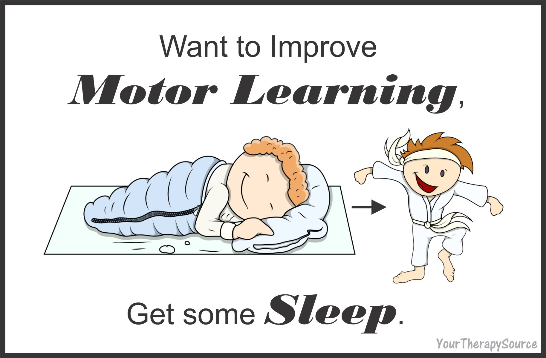 motor learning and sleep from www.YourTherapySource.com