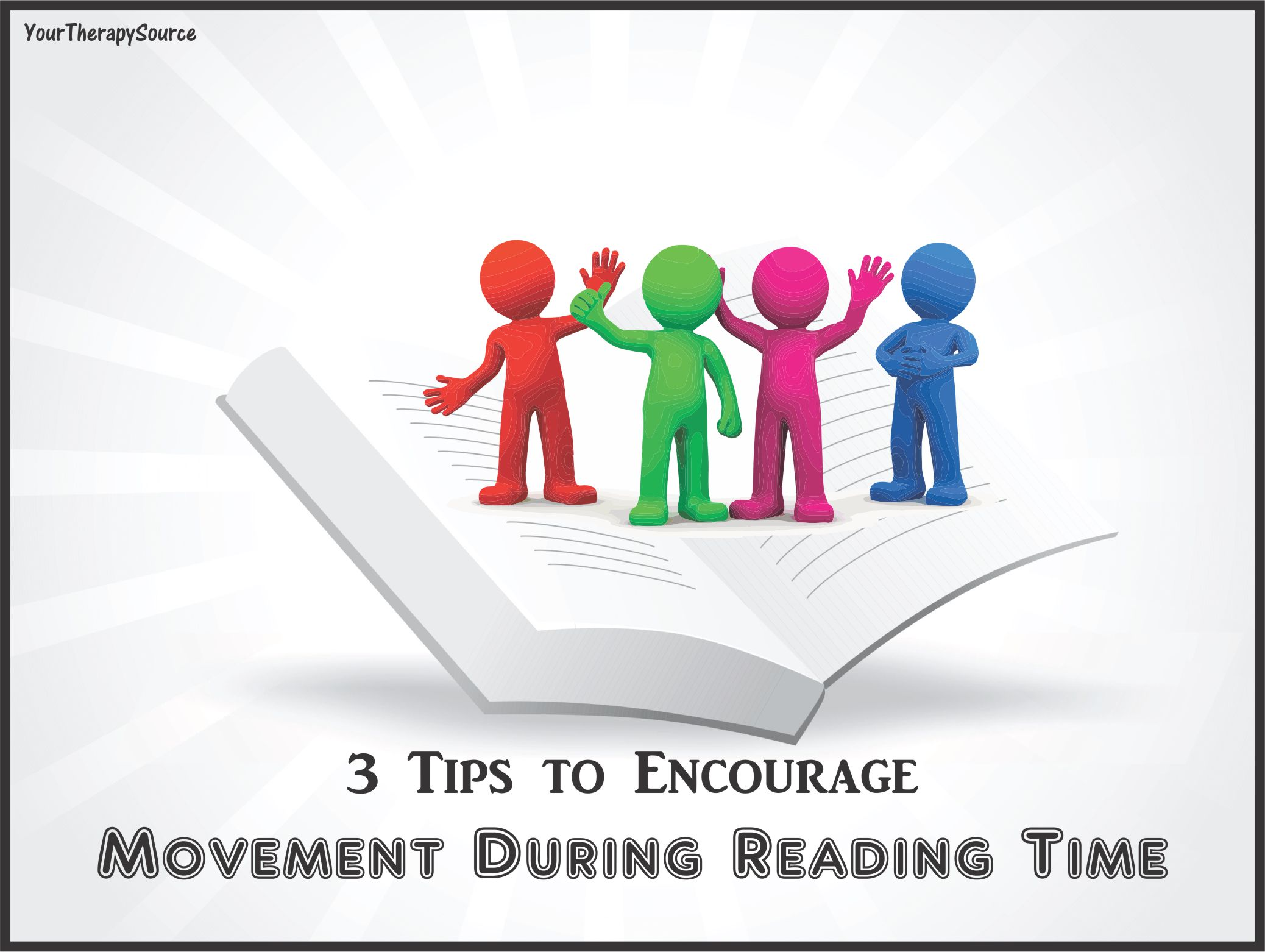 movement during reading time  visit www.YourTherapySource.com for movement activity ideas