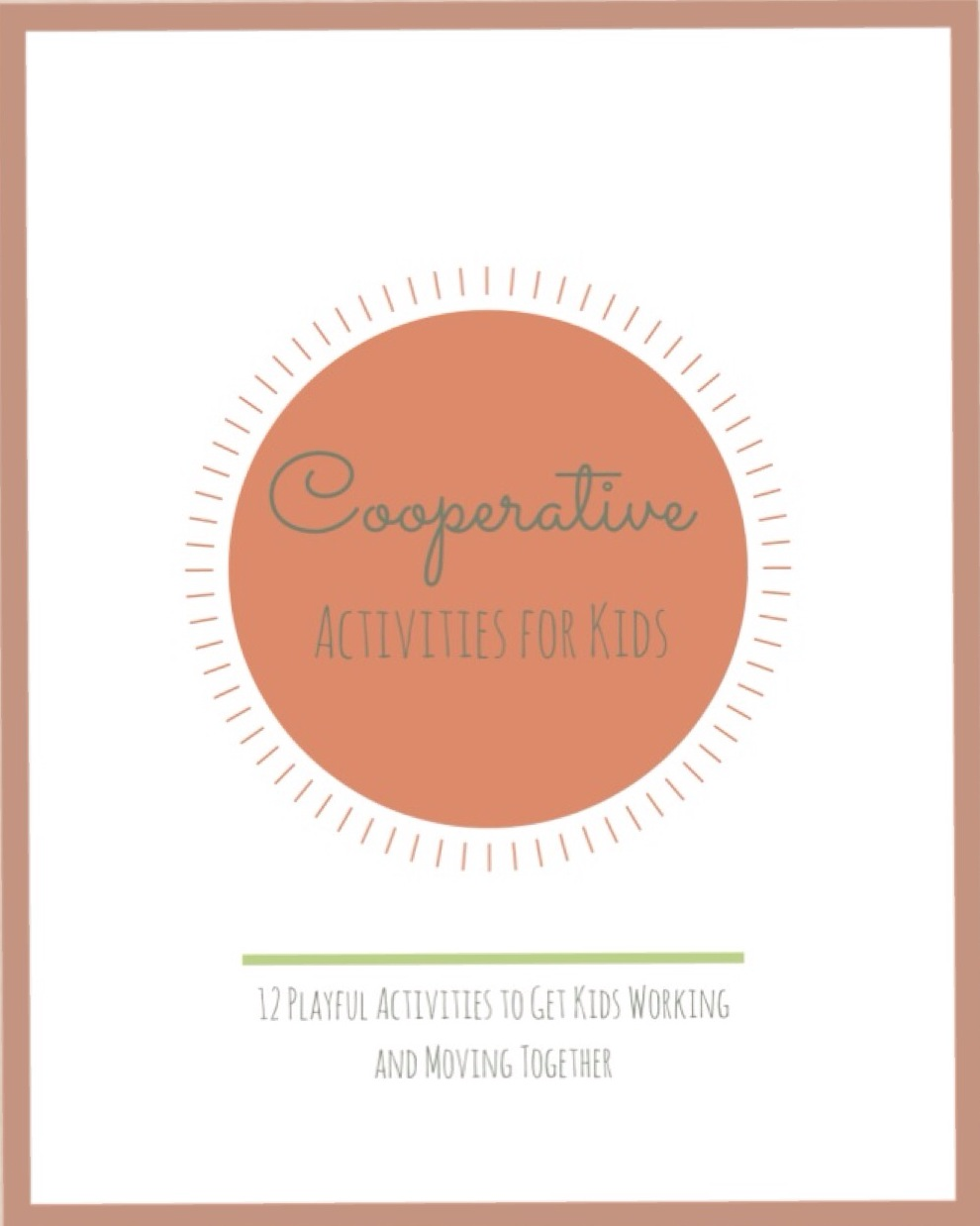 Cooperative Activities for Kids from www.YourTherapySource.com