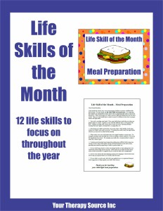 Life Skills of the Month from www.YourTherapySource.com