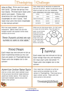 Thanksgiving Fine and Gross Motor Group Game from www.YourTherapySource.com