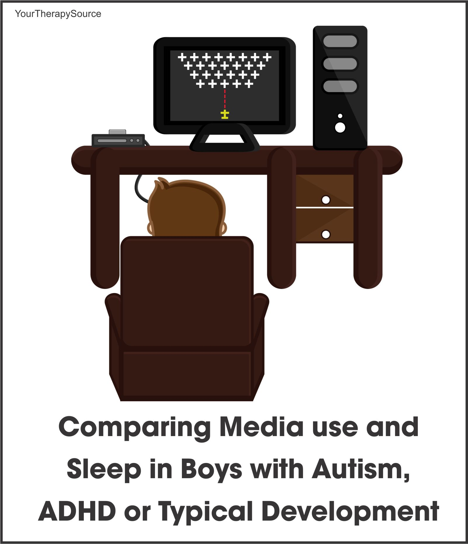 Comparing media use sleep boys with autism - www.YourTherapySource.com