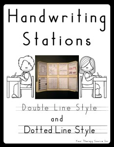 Handwriting Stations from https://www.yourtherapysource.com/hwstation.html