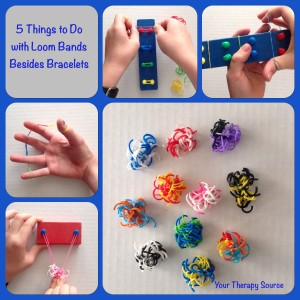 loom band ideas from https://yourtherapysource.com/freeloombands.html