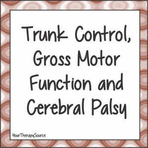 trunk control, gross motor function and cerebral palsy - www.YourTherapySource.com