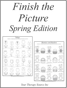 Finish the Picture Spring Edition - https://www.yourtherapysource.com/holidayspring.html