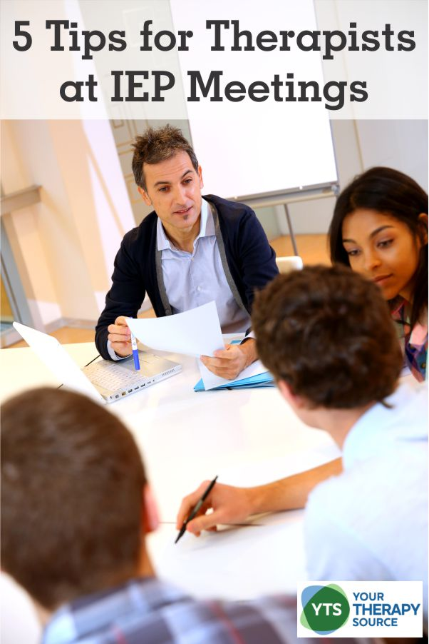 "IEP ""season"" is upon us at most school districts.  The real key to successful IEP occupational therapy, physical therapy or speech services meetings is proper preparation.  Here are 5 tips to help therapists participate in successful IEP meetings."