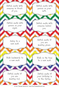 brain breaks task cards switcheroo fromhttps://yourtherapysource.com/freeswitcheroobrainbreaks.html