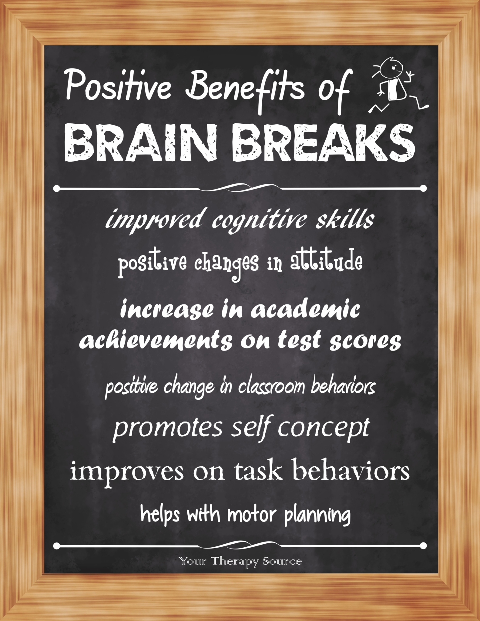 positive benefits of brain breaks from www.YourTHerapySource.com/blog1