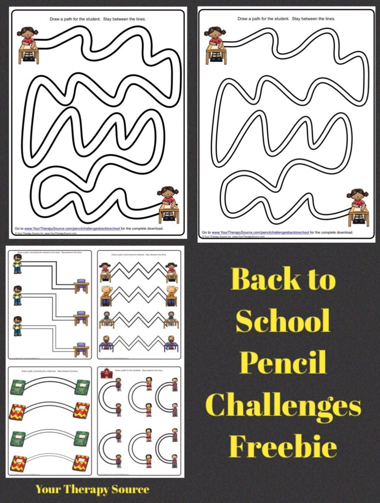 Back to School Pencil Challenges Freebie