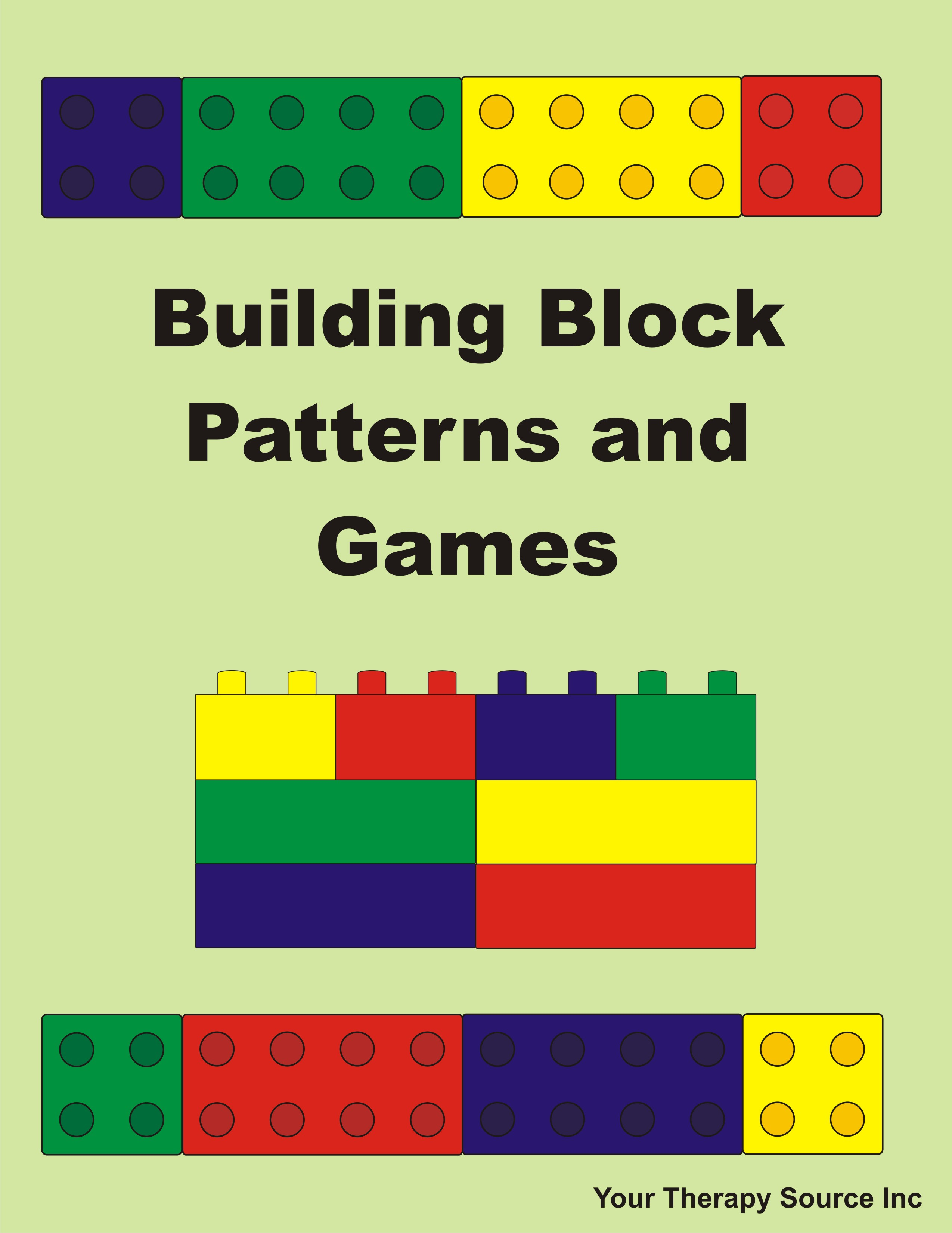 Building Block Patterns and Games from https://yourtherapysource.com/blocks.html