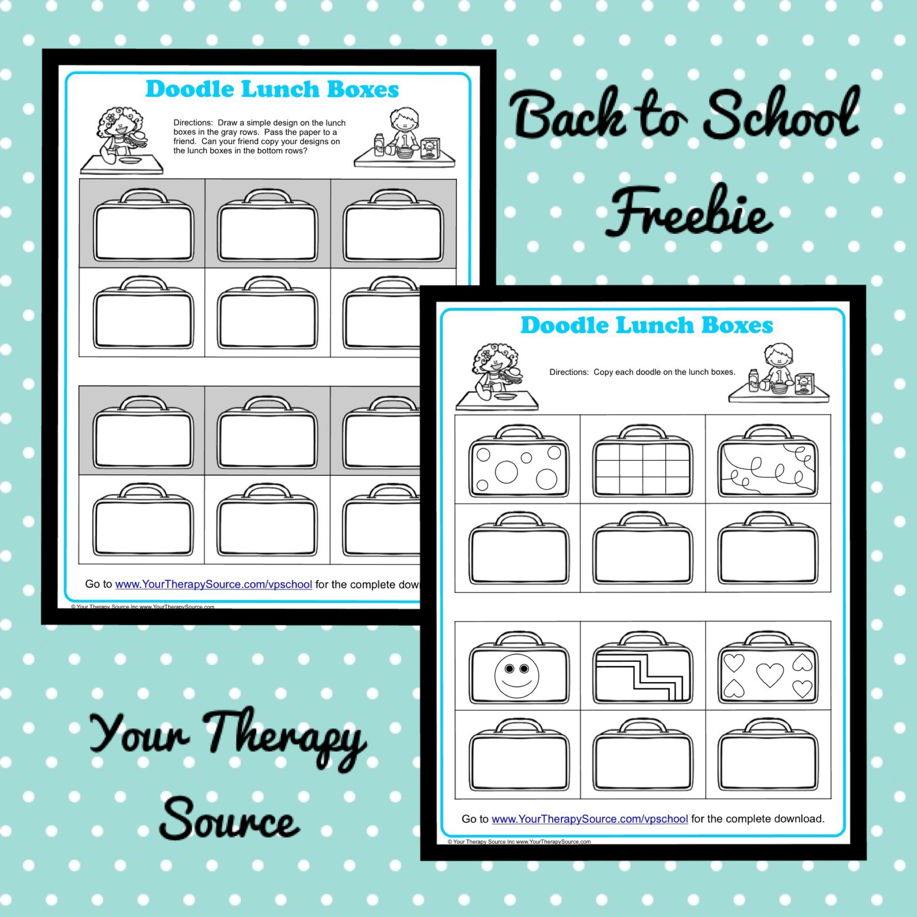 Back to School Freebie fromhttps://yourtherapysource.com/vpschoolfreebie