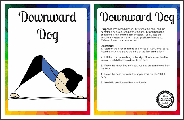 photograph regarding Printable Yoga Poses for Preschoolers named Yoga Playing cards - Downward Doggy Pose - Your Treatment method Resource