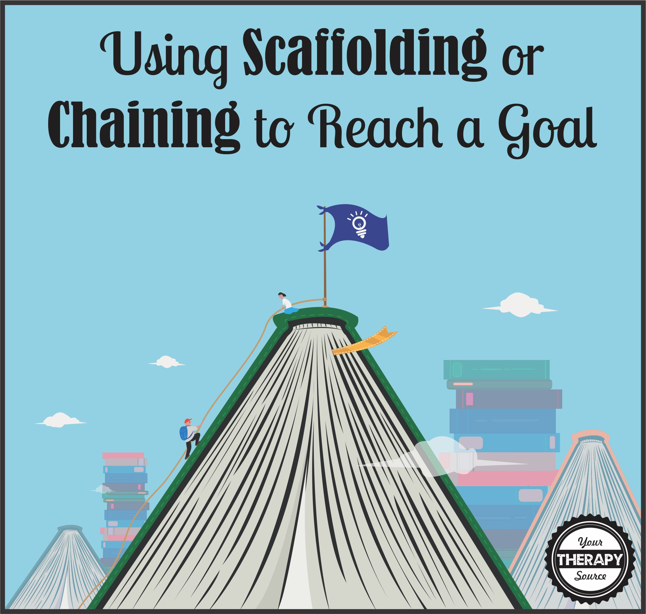 Using Scaffolding or Chaining to Reach a Goal www.YourTherapySource.com