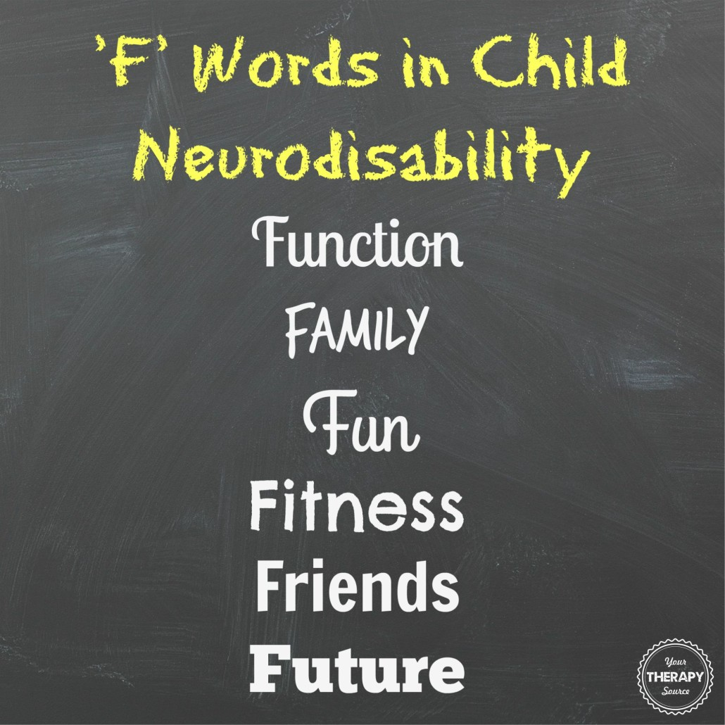 f words in child neurodisability