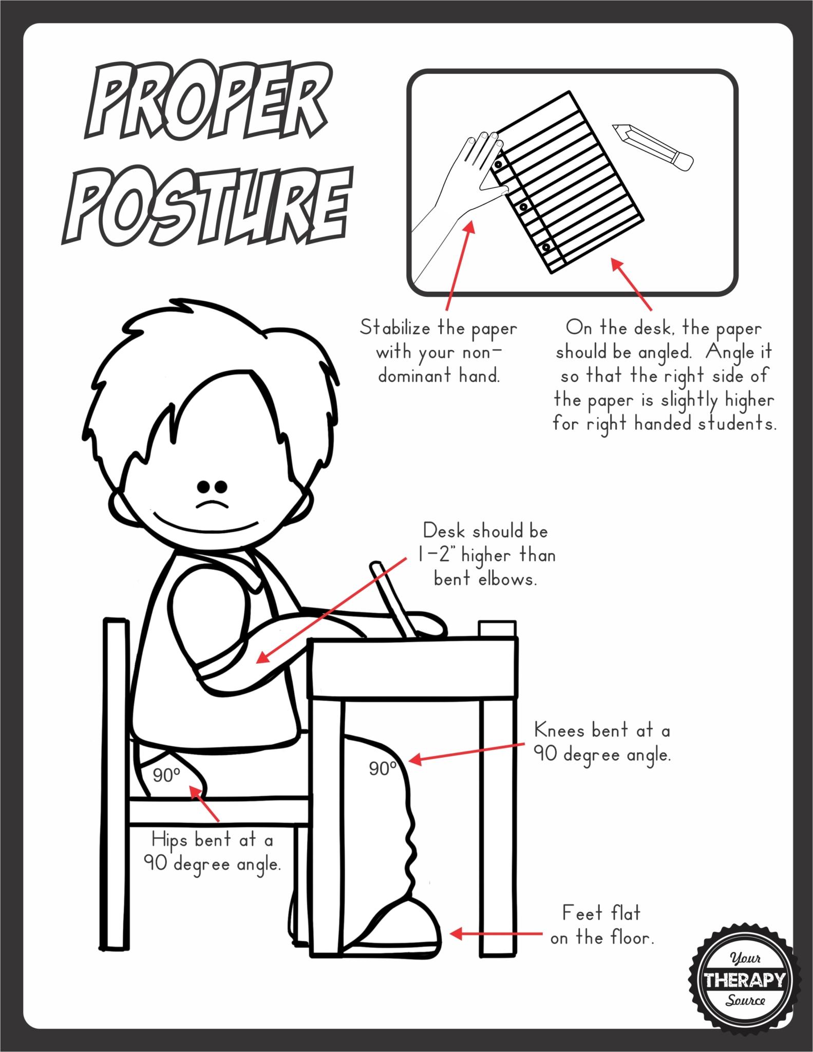 Proper Posture Functional Skills for Kids