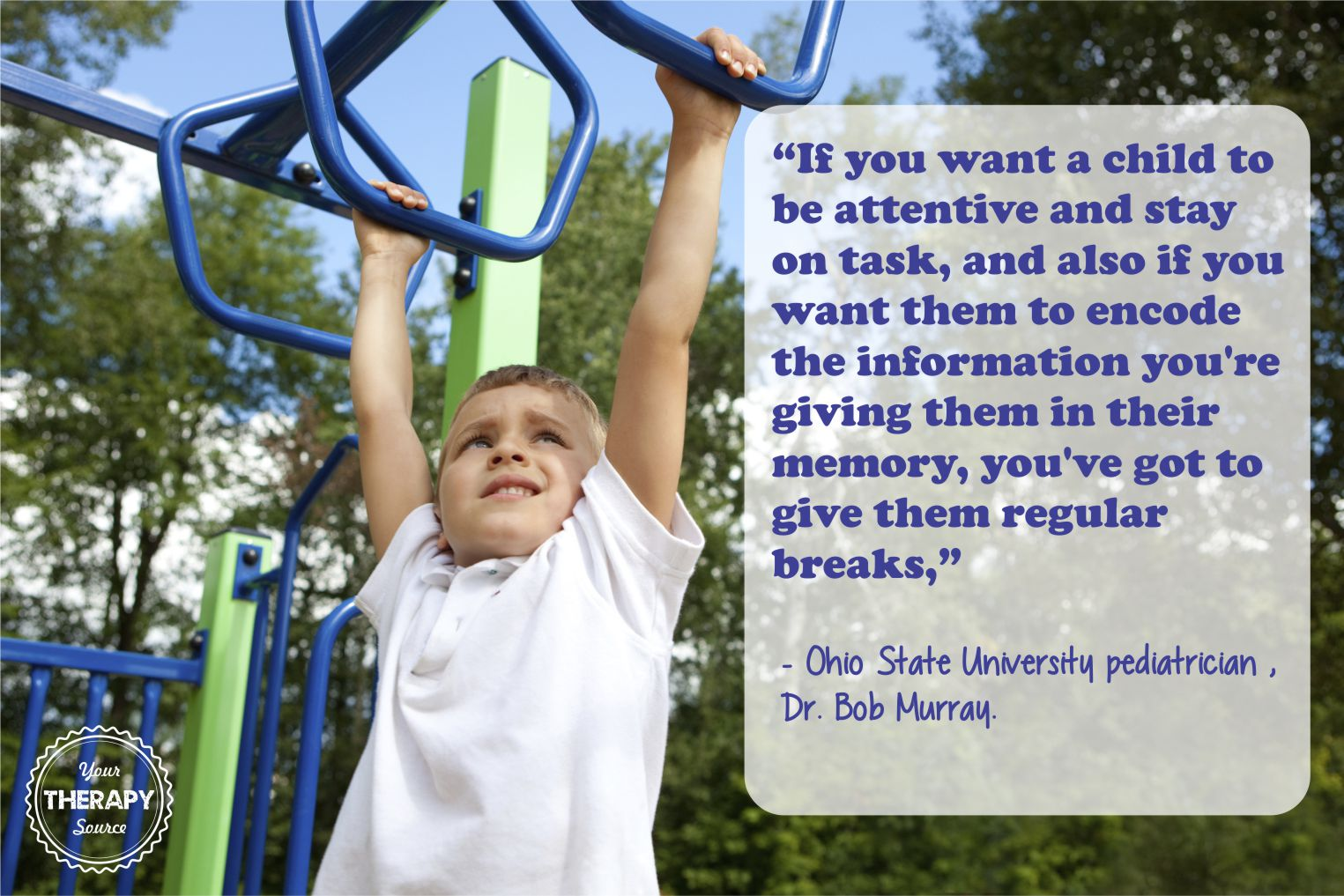 As school based therapists, we are often asked why is recess important? Often times we try to educate school staff on why withholding recess from students can be detrimental.
