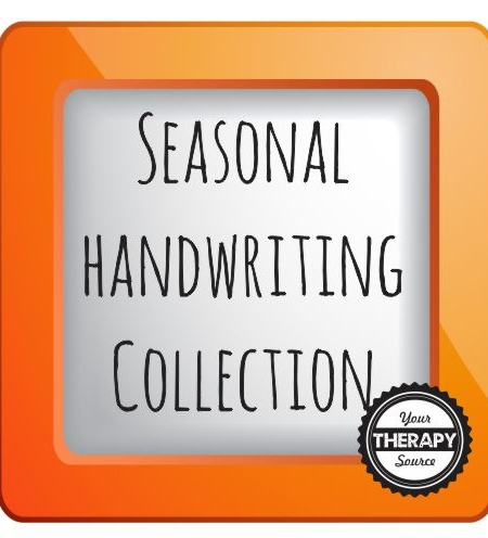 collection images seasonal handwriting practice