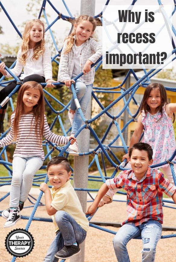 As school based therapists, we are often asked why is recess important? Often times we try to educate school staff on why withholding recess from students can be detrimental. If you want to help students in the classroom? Add recess time!