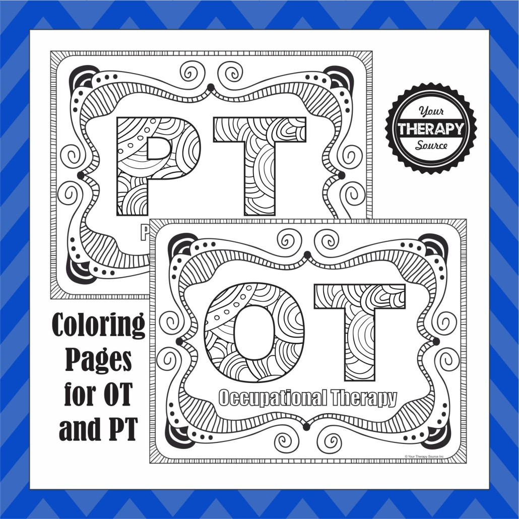 OT and PT Coloring Pages: Update Added SLP Coloring Page - Your