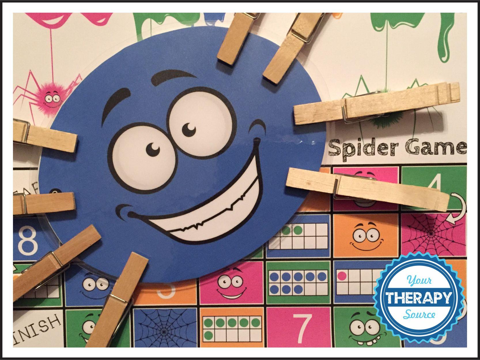 Visual Perceptual Clothes pin spider Game