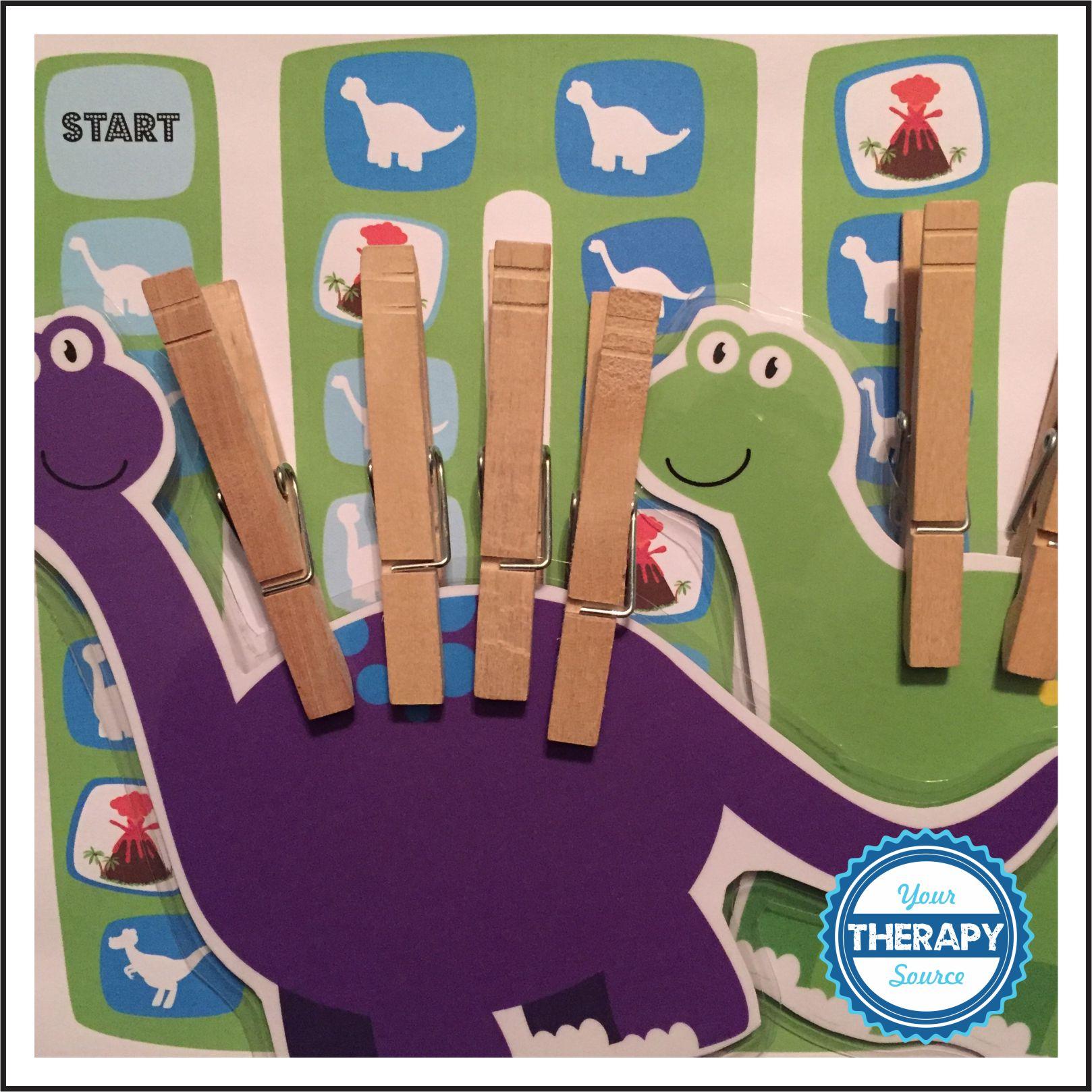 Visual Perceptual Clothes pin Dinosaur Game