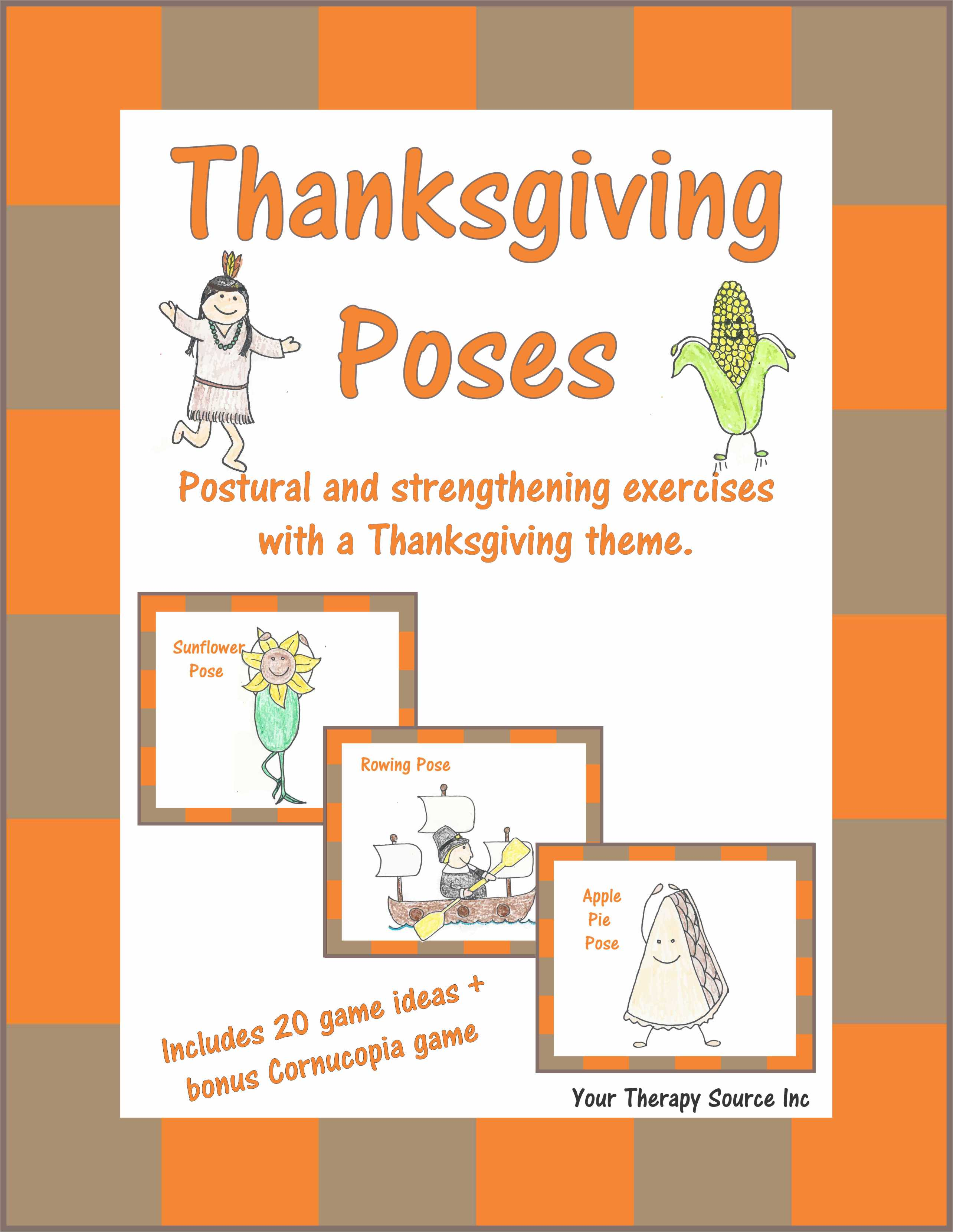 Thanksgiving Poses Postural And Strengthening Exercises With A Thanksgiving Theme Your Therapy Source