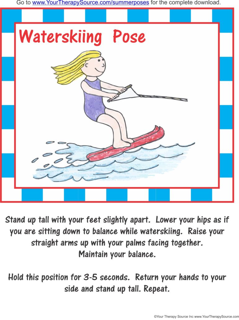 Summer Pose Freebie - Waterskiing