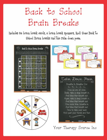 Back to School Brain Breaks