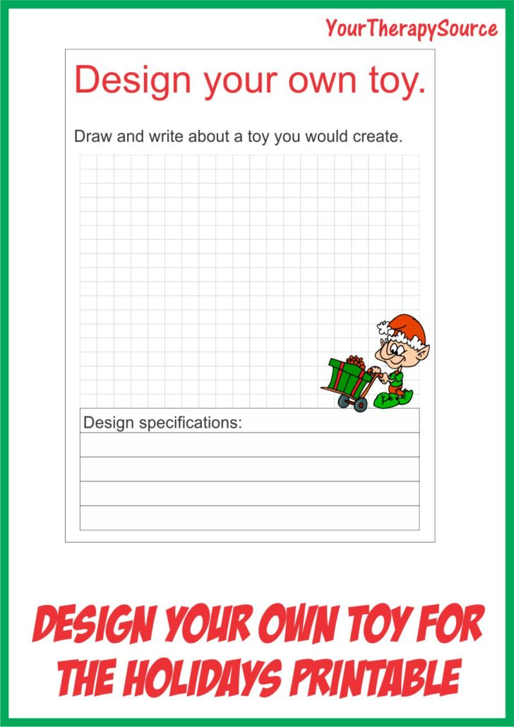 Free Design Your Own Toy Printable