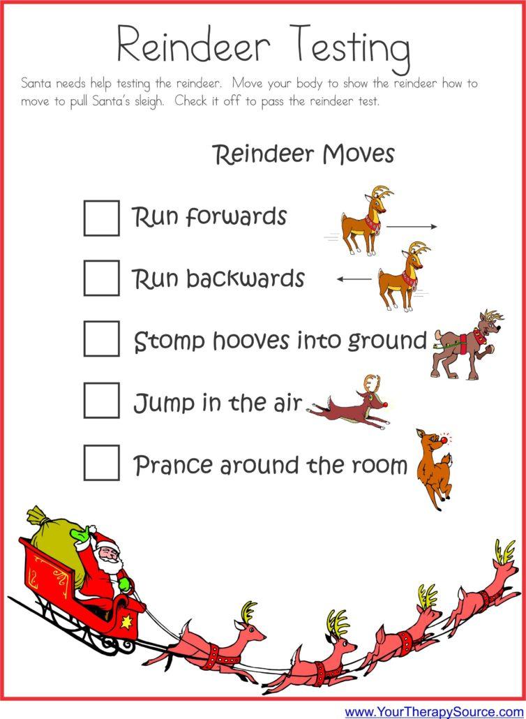 Free Santa Reindeer Checklist
