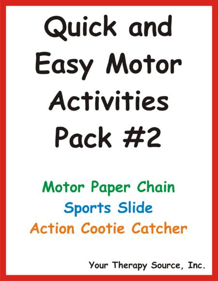 Quick and Easy Motor Activities #2