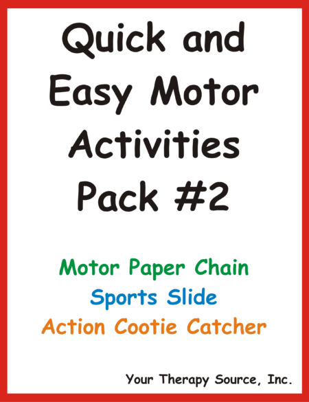 Quick and Easy Motor Activities #2