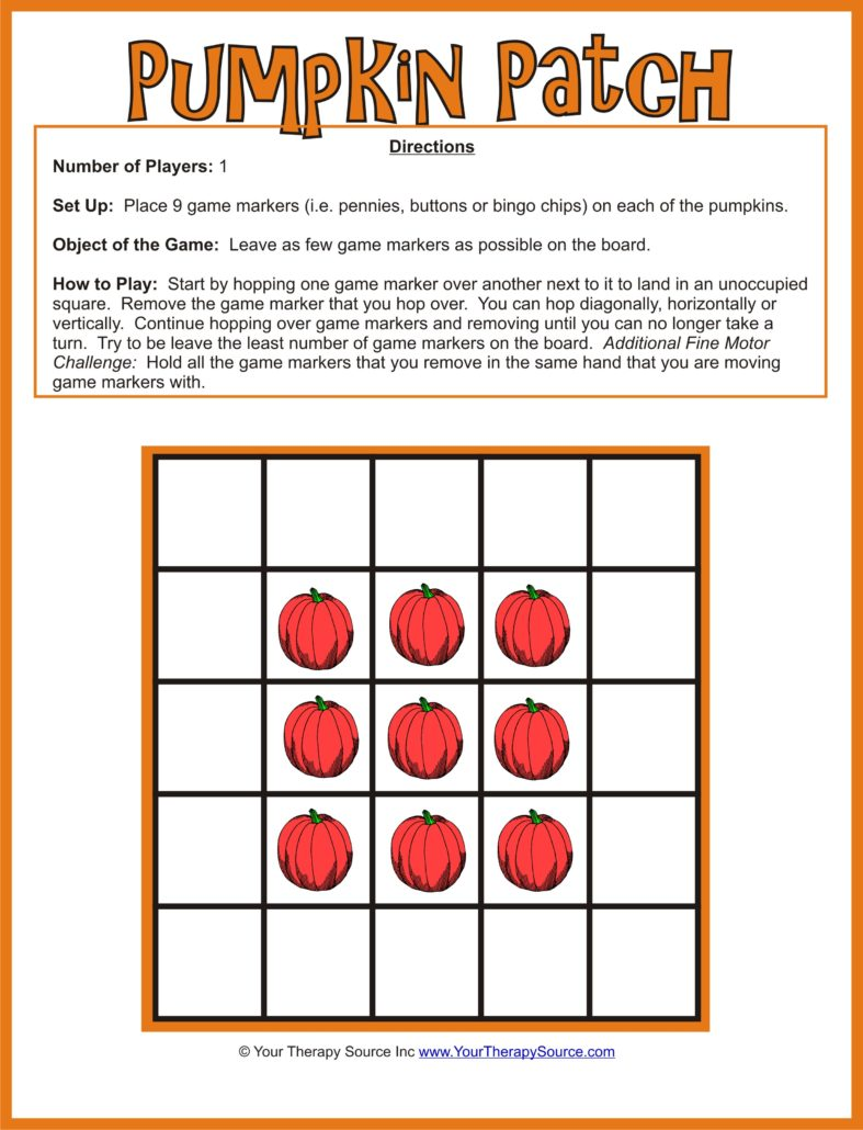 Get free Pumpkin Patch Fine Motor Game