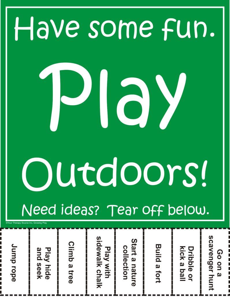 Play Outdoors Tear Off Sheet