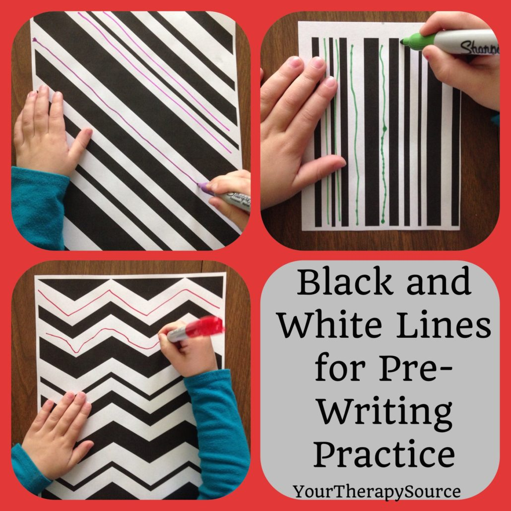 Black and White Printables for Pre-Writing Practice
