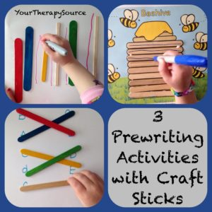 Pre-Writing Activities with Craft Sticks