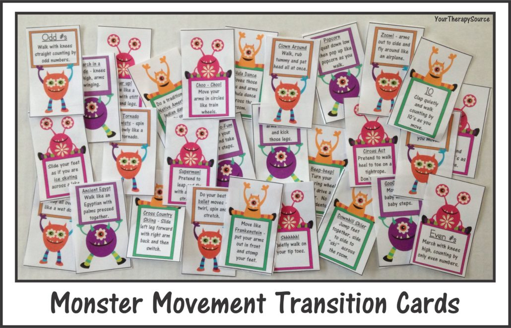 Monster Movement Transition Cards