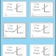 6 Mini Books to Practice Drawing Shapes