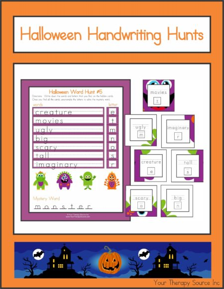 Halloween Handwriting Hunts
