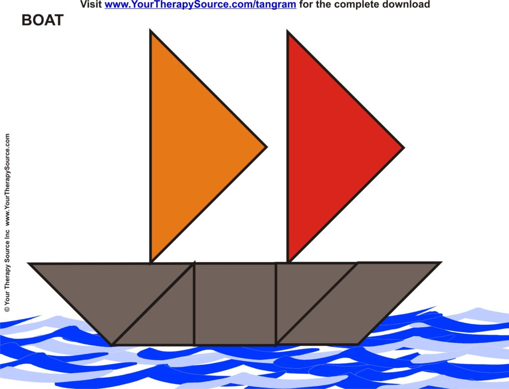 free Tangram boat project