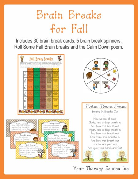 Brain Breaks for Fall
